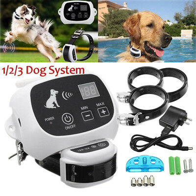 1-3 Wireless Dog Electronic Fence Containment Training Collar System Waterproof