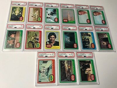 1977 Topps Star Wars PSA 9 8.5 8 6 LOT of 15 Cards #160 #112 #233 #206 #224 ++
