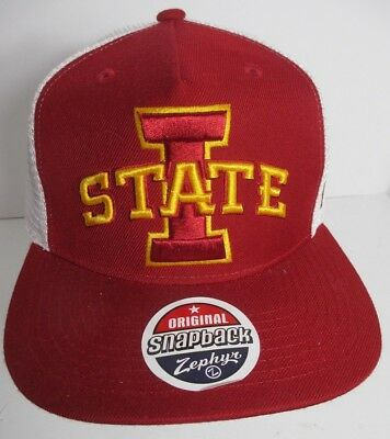 best cheap d2714 f7827 Iowa State Cyclones Hat Cap Trucker Snapback USA Zephyr Embroidery NCAA New