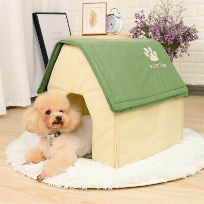 Removable Small Pet Dog Bed Cat House Puppy Kennel Cushion Cave Windproof Nest