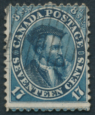Canada #19 17c Jacques Cartier, Fine, Perf 11 3/4