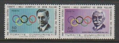 Turkey - 1967, 1st Turkish Olympic Competitions, Istanbul set - MNH - SG 2204/5