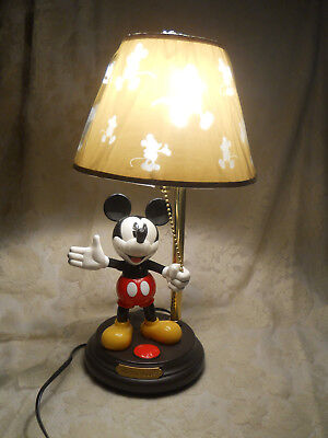 Disney Mickey Mouse Animated Talking Lamp W/Box He Talks U0026 Moves Works