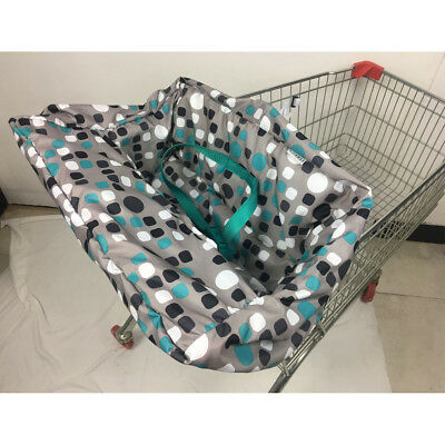 Geometric Baby Travel Portable Shopping Cart Seat Chair Cover Protector Mat