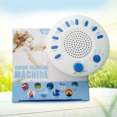 Relaxing Deep Sleep Machine White 9 Sounds Therapy Music Nature Peace Aids DC 5V