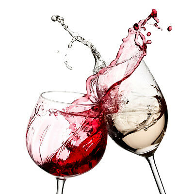 Red White Wine Glasses Kitchen Wall Art Pictures Canvas Wall Art Prints Unframed