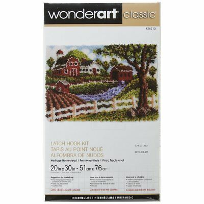 Wonderart Classic Latch Hook Kit Rug Making Kit - Homestead - 20x30""