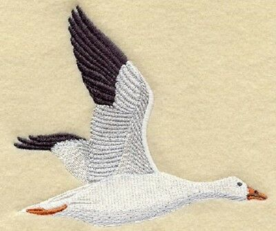 Large Embroidered Zippered Tote - Snow Goose M2035