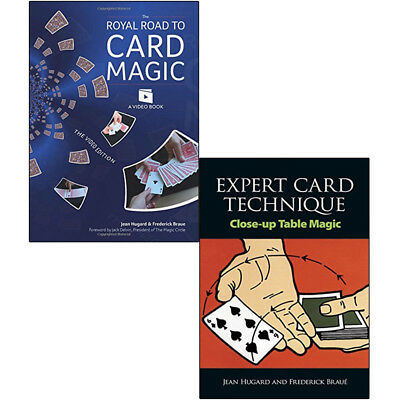 Royal Road to Card Magic Tricks Expert Technique 2 Books Collection Set NEW
