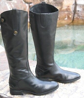 2175f2a7523ca2 Sam Edelman Penny Riding Boots Tall Knee High Black Leather Wmn Sz 8M NEW   150