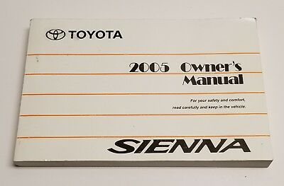05 2005 toyota sienna owners manual 24 95 picclick rh picclick com 2005 toyota sienna repair manual pdf 2005 toyota sienna owners manual download