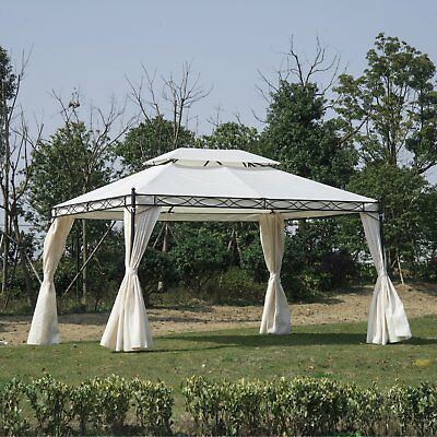 Summer Clearance 13'L x 10'W Gazebo Party Tent 2-Tier Shelter W/ Curtains