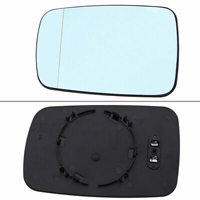 Fit BMW 3/7-Series E46 E65 01-08 Door Mirror Glass Heated Blue Left Driver Side