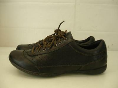dbb1b23bb0d BORN Tamara Womens 6.5 M Leather Perforated Black Sneakers Shoes Lace-Up  Comfort