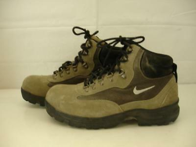 465ee3718832e Mens sz 10.5 Nike ACG khaki suede leather hiking boots All-Trac Vtg 2000  865033