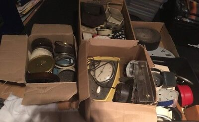 Huge Joblot Of Vintage Clock Parts-Cases, movements, faces, steampunk TO CLEAR