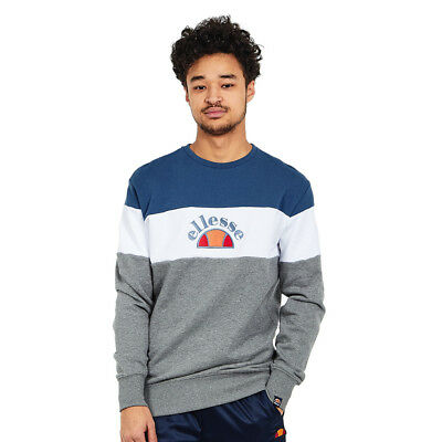 ellesse - Oriveto C&S Sweater Dark Grey Marl / Optic White / Dress Blues