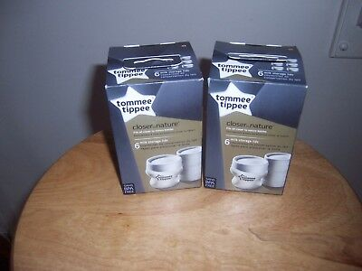 New Lot tommee tippee closure to nature milk storage lids