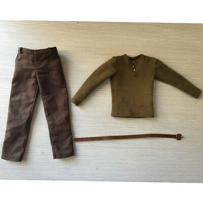 1/6 Army Green T-shirt Pants Set for 12'' Male Action Figure BBI/HT/DID/SS