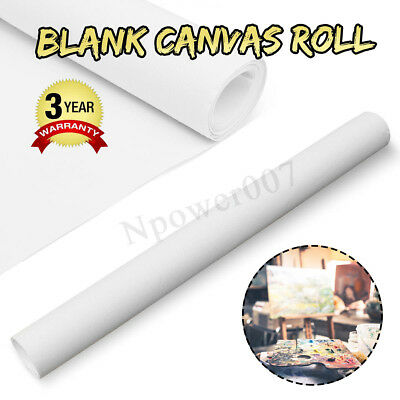 Blank Artist Stretched Canvas Roll 100% Cotton ART Oil Drawing Craft 200x40CM AU