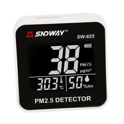 PM2.5 Monitor Detector Portable Air Quality Monitor Haze Dust Meter Tester