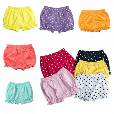 Cute Infant Baby Girl Boy Cotton Bloomers Casual Diaper Nappy Cover Pants Shorts