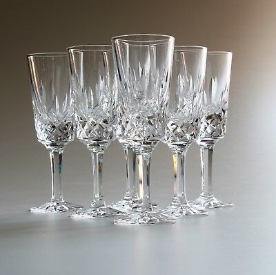 Tyrone Crystal, 6 X Port/Sherry Glasses, 5 Inches, Rosses.