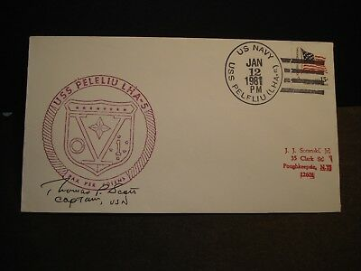 USS PELELIU LHA-5 Naval Cover 1981 SIGNED Cachet