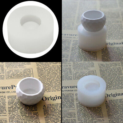3D Handmade Silicone Candle Soap Flower Pot Mold Casting Concrete Cup Mold NEW