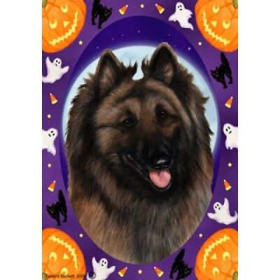 Garden Indoor/Outdoor Halloween Flag - Belgian Tervuren 120831