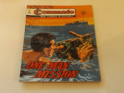 Commando War Comic Number 425,1969 Issue,v Good For Age,49 Years Old,very Rare.