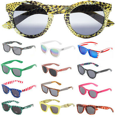 Vans Off The Wall Sunglasses Square Round Shades Mirrored Eye Glasses Unisex