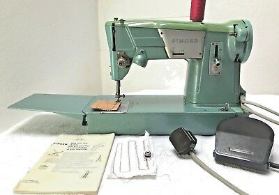 Singer 327k Vintage Blue Electric Sewing Machine with Foot Control