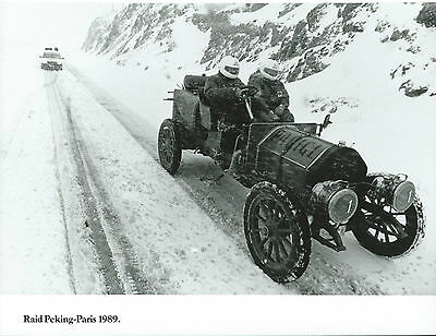 Fiat Itala RAID Peking Paris 1989 Itala in The Snow Original 1989 Photograph