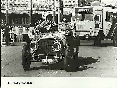 Fiat Itala RAID Peking Paris 1989 Press Photograph Itala & Iveco in Peking
