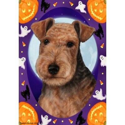 Garden Indoor/Outdoor Halloween Flag - Lakeland Terrier 122341