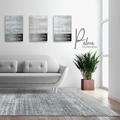 Modern Contemporary Area Rug Cream Grey White Carpet Stain Resistant Floor Mat