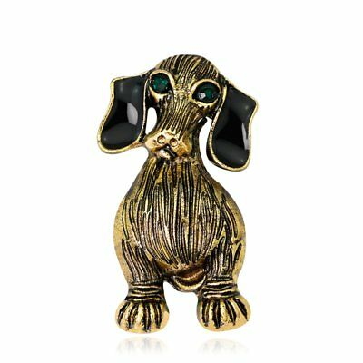 Vintage Animal Dog Brooch Pin Women Badges Scarf Clothes Accessories Jewelry