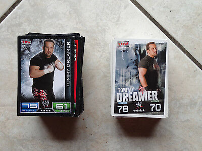 Lot 205 Cartes Catch Wrestling Topps Slam Attax Evolution Ecw Raw 2008-2009