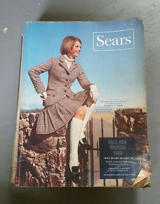 SEARS 1967 Fall and Winter Large Original Vintage Catalog Fashion Motorcycles