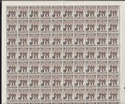 AUSTRALIAN ANTARCTIC 1959 5d on 4d sheet 120 stamps, Mint Never Hinged