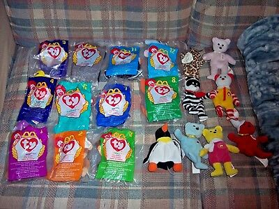 LOT OF 6 McDonalds Ty Teenie Beenie Babies In Packages 1996. Seamore ... 18e08184d6c5