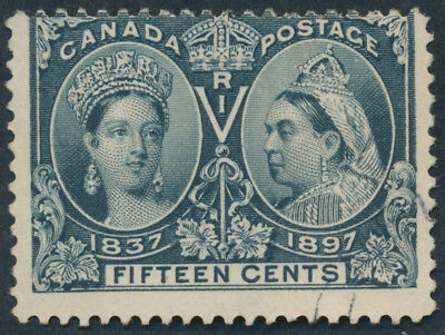 Canada #58 15c Victoria Jubilee, Used, Light Cancel
