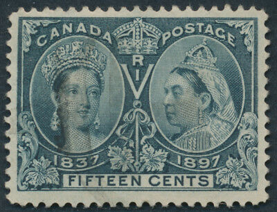Canada #58 15c Victoria Jubilee, VF Appearance, Small Thins
