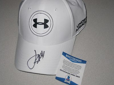 f6ce51a2474d JORDAN SPIETH SIGNED Autograph PGA Under Armour Golf Hat Beckett BAS ...