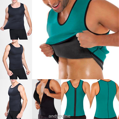 c6a8a4eb93 US Men Waist Trainer Vest for Weightloss Neoprene Corset Slim Body Shaper  Sauna 1 of 12FREE Shipping ...
