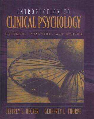 Introduction to Clinical Psychology by Jeffrey Hecker Hardcover Book Free Shippi