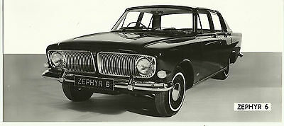 Ford Zephyr 6 Original and  Unusual Press Photograph Mint Condition