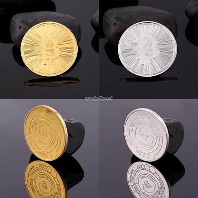 Gold Bitcoin Commemorative Round Collectors Coin Bit Coin Gold Plated Coins WST