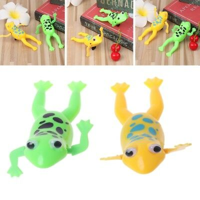 Wind up Swimming Cute Frog Toy Clockwork Stop Crying Baby Kids Bath Toys